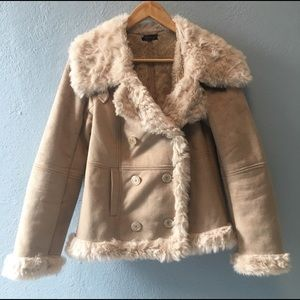 Topshop Jackets & Coats - -TopShop- 💕90s style Faux Fur and suede Coat.